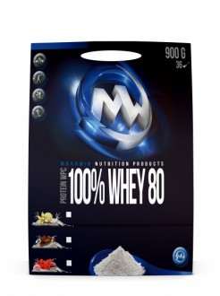 KOMPLETNÍ SORTIMENT - 100% MaxxWin WHEY Protein 80 900g