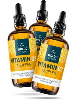 KOMPLETNÍ SORTIMENT - 2+1 Woldohealth Vitamin D3 Kapky ( 1000 I.U. ) 3x50 ML