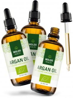 KOMPLETNÍ SORTIMENT - 2+1 Woldohealth BIO Arganový olej z Maroka 3x100 ml