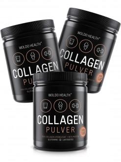 KOMPLETNÍ SORTIMENT - 2+1 Woldohealth 100% Hovězí Kolagen 3x500 g