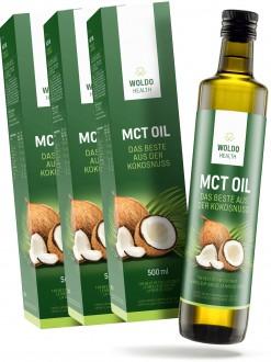 PŘÍRODNÍ DOPLŇKY NA: - 2+1 Woldohealth MCT olej  3x500 ML ( 100% KOKOSOVÉHO OLEJE)