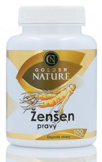 KOMPLETNÍ SORTIMENT - Golden Nature Ženšen pravý 100 cps.