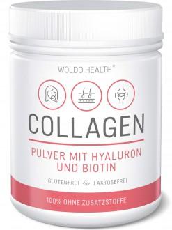 KOMPLETNÍ SORTIMENT - Woldohealth Kolagen s kyselinou hyaluronovou a biotinem 500g