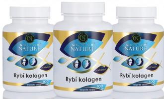 AKČNÍ BALÍČKY 2+1 - 2+1 Golden Nature Rybí kolagen+Vitamin C 300 cps.