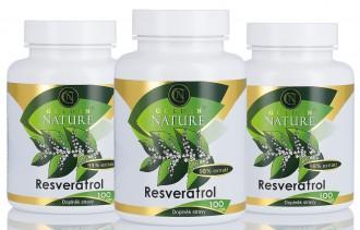 KOMPLETNÍ SORTIMENT - 2+1 Golden Nature Resveratrol 98% 300 cps.