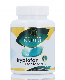 PŘÍRODNÍ DOPLŇKY NA: - Golden Nature Tryptofan+Melatonin+B6 100 cps.