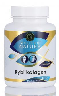 KOMPLETNÍ SORTIMENT - Golden Nature Rybí kolagen+Vitamin C 100 cps.