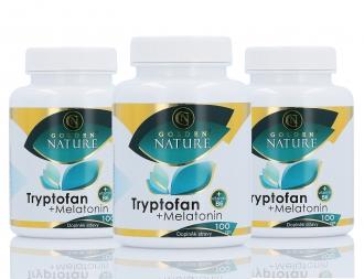 KOMPLETNÍ SORTIMENT - 2+1 Golden Nature Tryptofan+Melatonin+B6 300 cps.