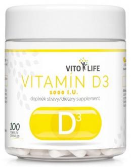 KOMPLETNÍ SORTIMENT - VITO LIFE - Vitamín D3 100 cps.