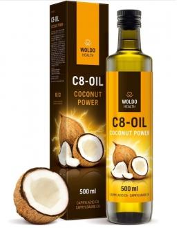 KOMPLETNÍ SORTIMENT - Woldohealth C8 MCT olej 100% kokosového oleje čistá kyselina kaprylová 500 ml