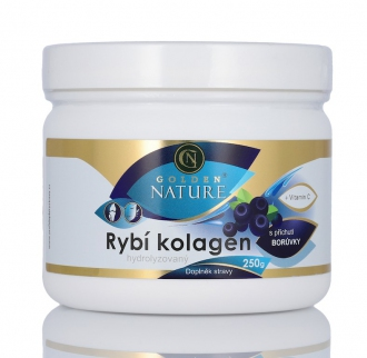 KOMPLETNÍ SORTIMENT - Golden Nature Rybí kolagen+Vitamin C - Borůvka 250g