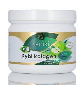 KOMPLETNÍ SORTIMENT - Golden Nature Rybí kolagen+Vitamin C - Jablko 250g