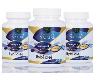 AKČNÍ BALÍČKY 2+1 - 2+1 Golden Nature Rybí olej (Omega 3) 300 cps