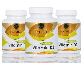 AKČNÍ BALÍČKY 2+1 - 2+1 Golden Nature Vitamin D3 2000 I.U. 300 cps.