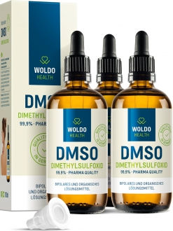AKČNÍ BALÍČKY 2+1 - 2+1 WoldoHealth DMSO dimethylsulfoxid 99,9% 300 ml.