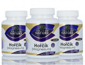 AKČNÍ BALÍČKY 2+1 - 2+1 Golden Nature Magnesium (Hořčík) Chelate+Vitamin B6 300 cps.