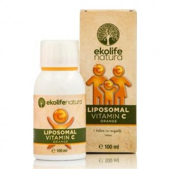 VITAMÍNY A MINERÁLY - Ekolife natura Liposomal Vitamin C 500mg 100ml pomeranč (Lipozomální vitamín C)