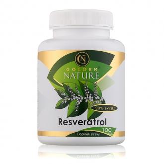KOMPLETNÍ SORTIMENT - Golden Nature Resveratrol 98% 100 cps.