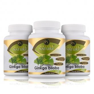AKČNÍ BALÍČKY 2+1 - 2+1 Golden Nature Ginkgo Biloba extrakt 50:1 60mg 300 cps.