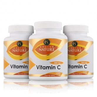 AKČNÍ BALÍČKY 2+1 - 2+1 Golden Nature Vitamin C 500mg 300 cps.