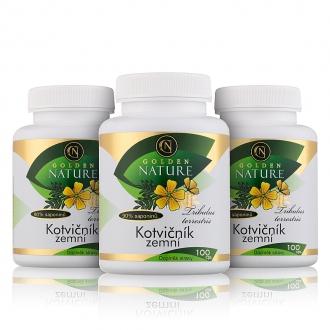 AKČNÍ BALÍČKY 2+1 - 2+1 Golden Nature Kotvičník zemní 90% saponinu 300 cps.