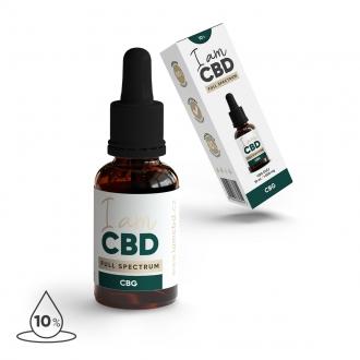 KOMPLETNÍ SORTIMENT - Iam CBD Full spectrum CBG konopný olej 10% 10 ml original