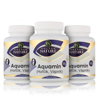 AKČNÍ BALÍČKY 2+1 - 2+1 Golden Nature Aquamin (Vápník+Hořčík) 300 cps.