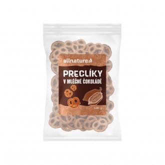 KOMPLETNÍ SORTIMENT - Allnature Preclíky v mléčné čokoládě 100 g