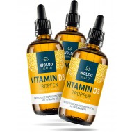 2+1 Woldohealth Vitamin D3 Kapky ( 1000 I.U. ) 3x50 ML