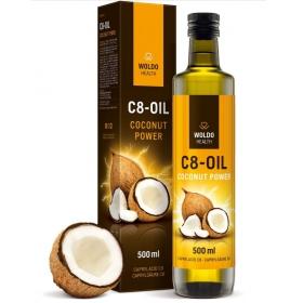 Woldohealth C8 MCT olej 100% kokosového oleje čistá kyselina kaprylová 500 ml