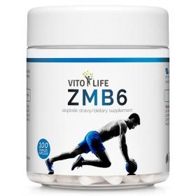 VITO LIFE - ZMB6 (ZMA - Zinek, Magnesium, Vitamín B6) 100 cps