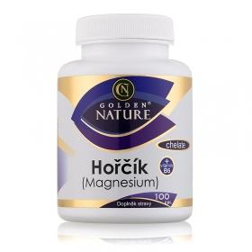 Golden Nature Magnesium (Hořčík) Chelate+Vitamin B6 100 cps.
