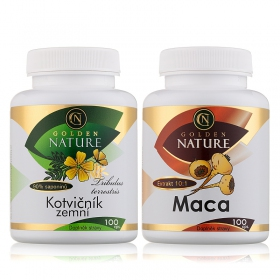 Golden Nature Kotvičník zemní 90% 100 cps. + Golden Nature Maca 100 cps.
