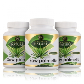 2+1 Golden Nature Saw Palmetto 45% mastných kyselin 100 cps.