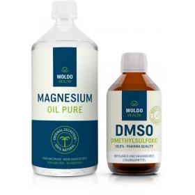 WoldoHealth DMSO 250 ml + WoldoHealth Hořčíkový olej 1000 ml
