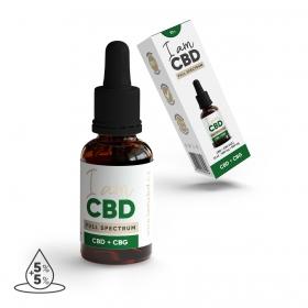 Iam CBD Full spectrum CBD 5 % + CBG 5 % konopný olej 10 ml