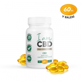 Iam CBD Full spectrum CBD kapsle 1 500 mg 60 ks
