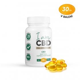 Iam CBD Full spectrum CBD kapsle 750 mg 30 ks