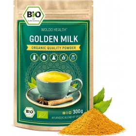 Woldohealth Zlaté mléko kurkuma 300g