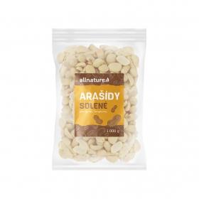 Allnature Arašídy loupané pražené solené 1000 g