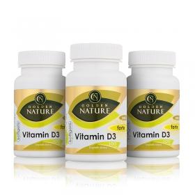 2+1 Golden Nature Vitamin D3 2000 I.U. SOFTGELS 300 cps.